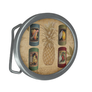 Canned fruit pineapple oval belt buckles