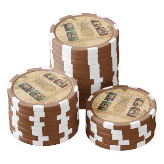 Canned fruit pineapple poker chips