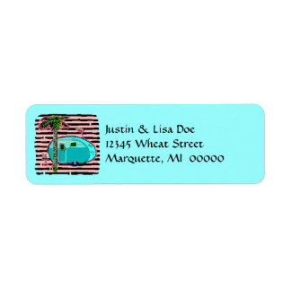 Canned Ham Retro Vintage Camper Address Labels