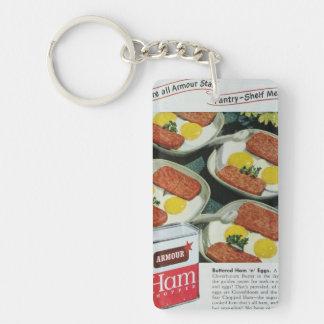 Canned Ham Vintage Advertisement Double-Sided Rectangular Acrylic Keychain