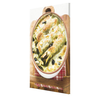 Cannelloni with spinach & sheep's cheese filling gallery wrapped canvas