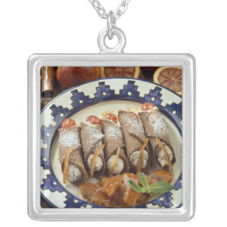 Canneloni di ricotta - Sicily - Italy For use Silver Plated Necklace