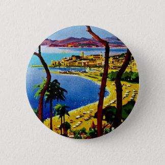 Cannes ~ Cote d'Azur 2 Inch Round Button