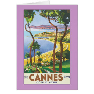 Cannes Landscape Greeting Card