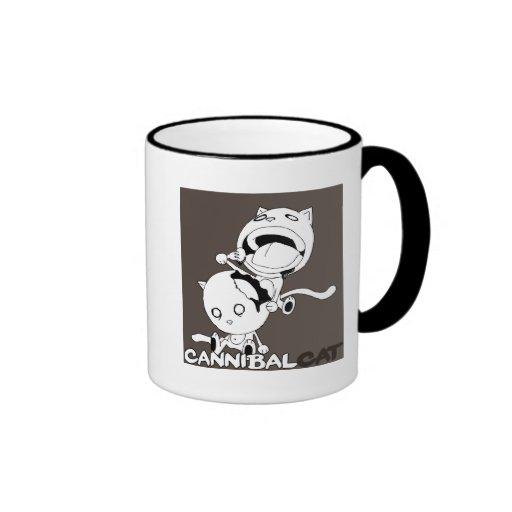 Cannibal Cat Brown Coffee Mug