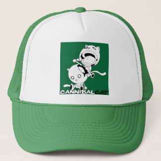 Cannibal Cat Green Trucker Hat