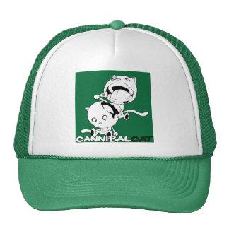 Cannibal Cat Green Trucker Hat