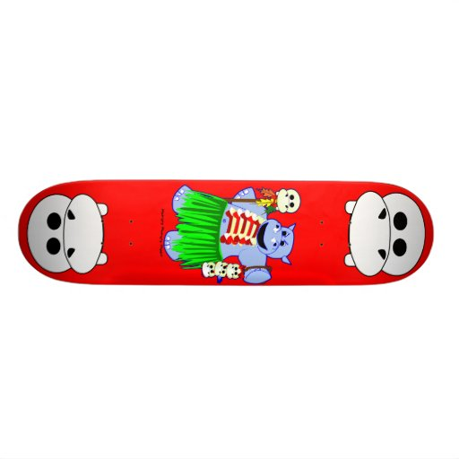 Cannibal Hippo Custom Skateboard