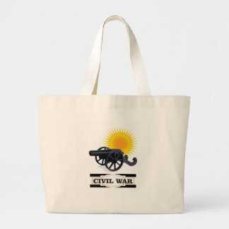 cannin sun civil war large tote bag