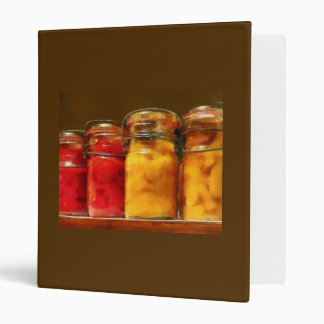 Canning Jars of Tomatoes and Peaches 3 Ring Binder