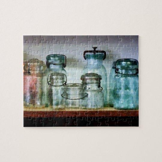 Canning Jars on Shelf Jigsaw Puzzle