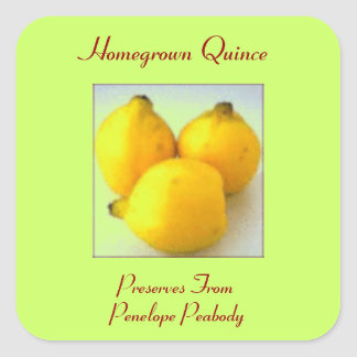 Canning Label for Quince Fruit Customize