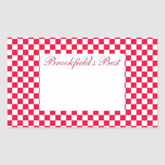Canning Label- Large- Red Gingham Sticker