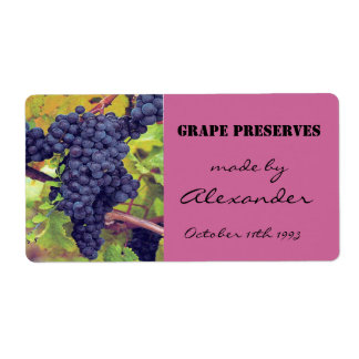Canning Preserves Grapes Shipping Label