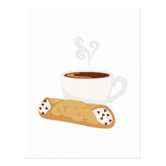 Cannoli & Coffee Postcard