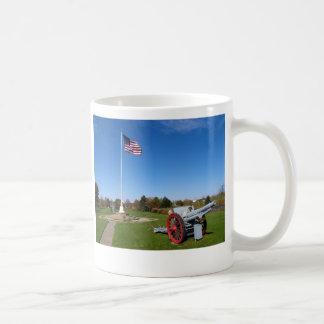 Cannon and American Flag Coffee Mug