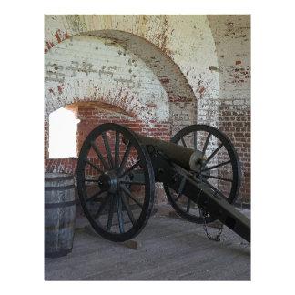 Cannon at Fort Pulaski Customized Letterhead