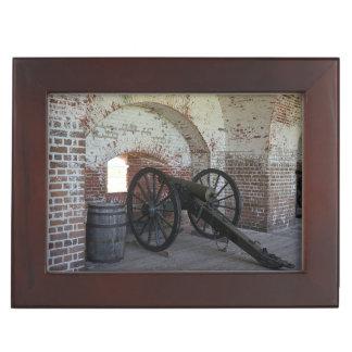 Cannon at Fort Pulaski Keepsake Box