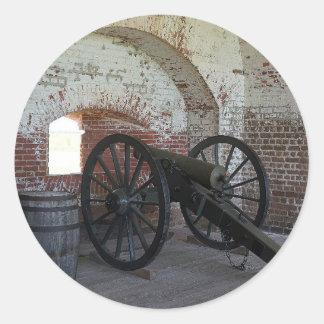 Cannon at Fort Pulaski Round Sticker