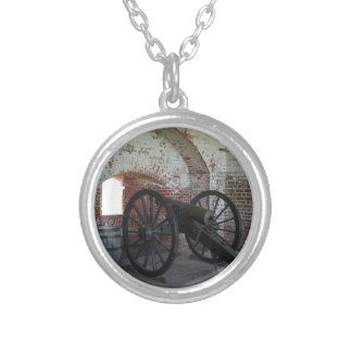 Cannon at Fort Pulaski Silver Plated Necklace