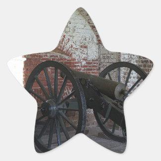 Cannon at Fort Pulaski Star Sticker