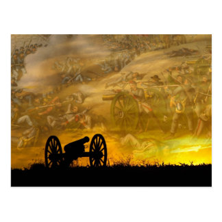 Cannon at sunset, Antietam National Battlefield Postcard
