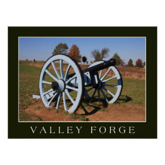 Cannon at Valley Forge Poster