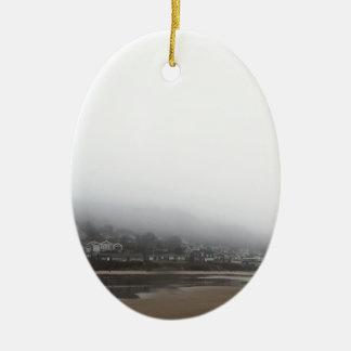 Cannon Beach Ceramic Oval Ornament