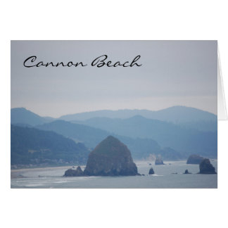 Cannon Beach Haystack in the mist Greeting Card