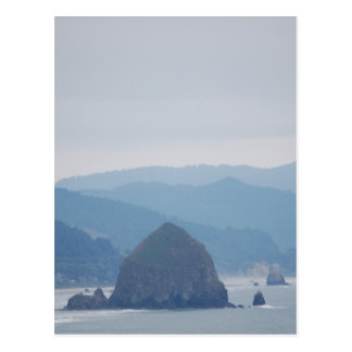 Cannon Beach Haystack in the mist Postcard