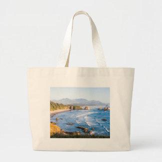 Cannon Beach Oregon Large Tote Bag