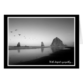 Cannon Beach Sympathy Card