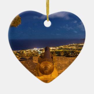 Cannon Ceramic Heart Ornament