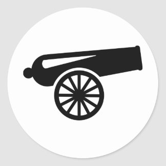 Cannon Classic Round Sticker