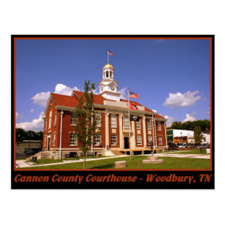 Cannon County Courthouse - Woodbury, TN Postcard