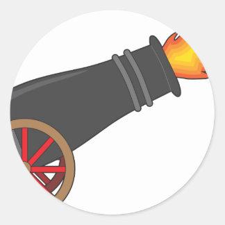 Cannon Round Sticker