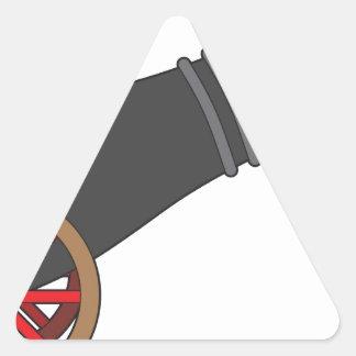 Cannon Triangle Stickers