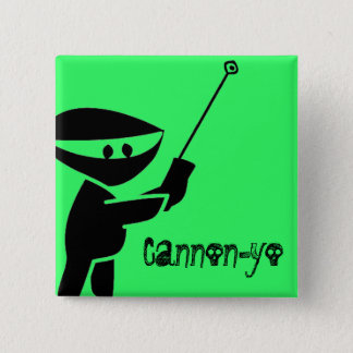 Cannon-yo 2 Inch Square Button