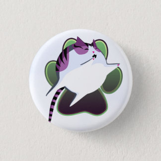 Cannonball Cat 1 Inch Round Button