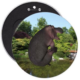 Cannonball Hippo 6 Inch Round Button