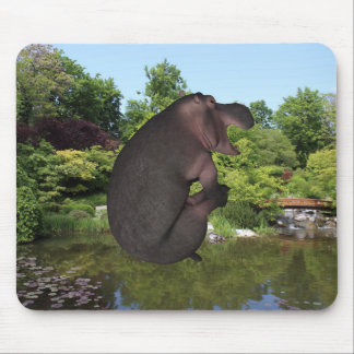 Cannonball Hippo Mouse Pad