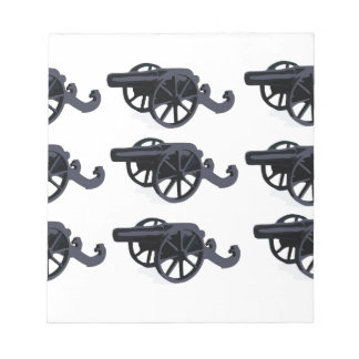 cannons in rows baby notepad