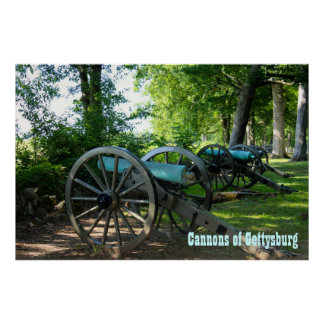 Cannons of Gettysburg National Military Park Poster