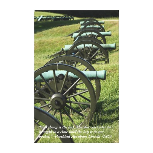 Cannons of Vicksburg Canvas Print