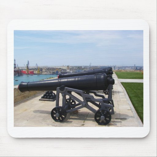 Cannons On Malta Mouse Pad