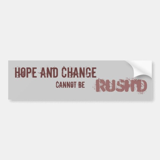 CANNOT BE RUSH'D BUMPER STICKER