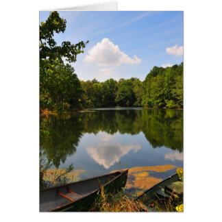 Canoe and Lake Card