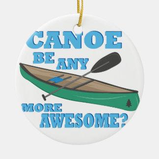 Canoe Awesome Round Ceramic Ornament