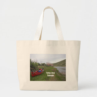 Canoe Camping, Yampa River, CO Large Tote Bag
