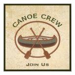 Canoe Crew 5.25x5.25 Square Paper Invitation Card